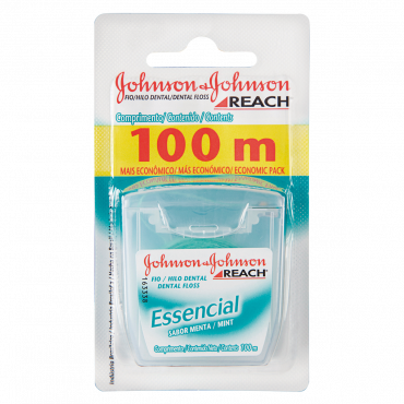 Fio Dental Johnson & Johnson Rech Essencial 100m